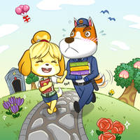 ACNL - Isabelle And Copper by MidoriEyes