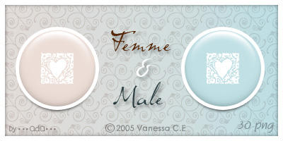 Femme et Male - Dock Icons by oooAdAooo