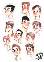Retro guys sketch by ArtofFlo