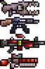 Spitter, C.A.R, Flesh Crusher, Dynamite Launcher by North74