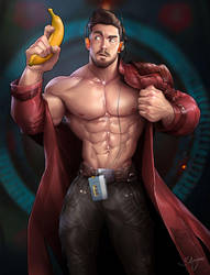 Commission work - Chris Jones as Starlord by silverjow
