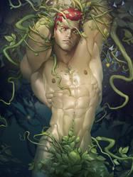 Poison Ivy Genderbend by silverjow