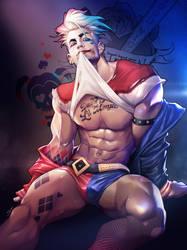 Harley Quinn Genderbend by silverjow