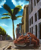 Pet a dragon by bernalilo