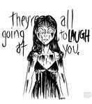Inktober | Women in Horror | #04 Carrie White by keh-arts