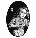 Inktober | Women in Horror | #31 Laurie Strode by keh-arts