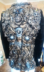 smoking jacket Wearable sculpture fine art artist, by overlord-costume-art