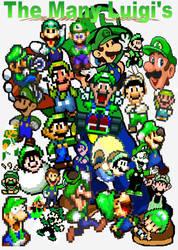 The many Luigi's by Docdanny96