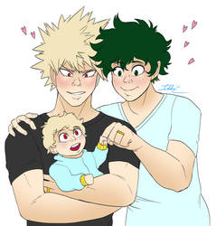 BakuDeku Family by Imotep92