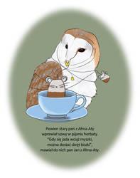 Owl tea party by LunaticSqirrel