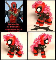 Pinkie Pie as Deadpool FS custom commission by MustBeJewel