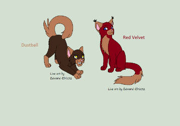 Dustball and Red Velvet adoptables by MuffinswithPepper