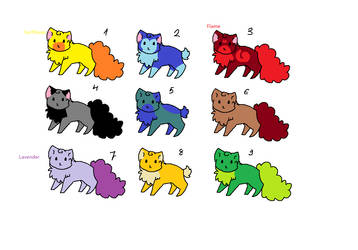 10 Free Cat Adoptables! by MuffinswithPepper