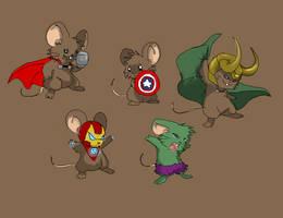 Avenger mice by AstralxPanda