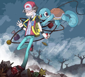 Red and Squirtle by J-Stein