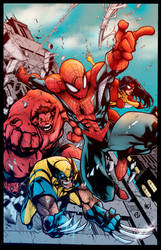 Avenging Spiderman Promo Color Variation by Staminaboy