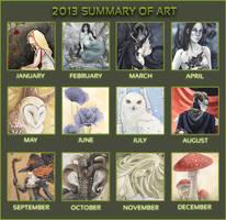 2013 Summary of Art by LiquidFaeStudios