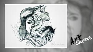 Sketch Art by xvsvinay