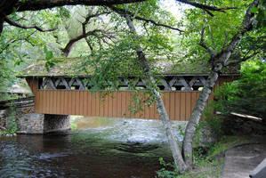 Waupaca: Covered Bridge by charliemarlowe