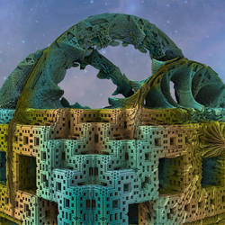 MB3D 105 menger arch by Mariagat