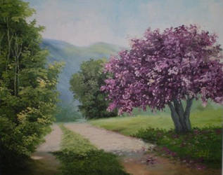Pink tree by Meggy-SJ