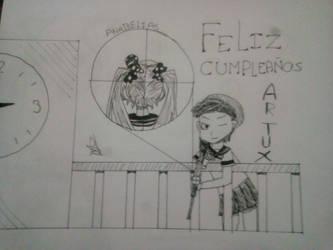 SENPAI ES MIO happy birthday artuxcreed by Anabelias