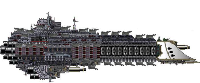 (Sanguine Class Assault Battlecruiser by LordArcheronVolistad
