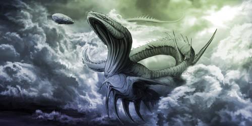 Sky Leviathan by TheBlack-Arrow