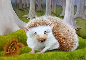 [Commission] Hedgehog for Naturama Projekt by l-Zoopy-l