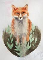 Fox sketch by l-Zoopy-l