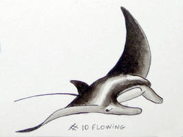 Inktober 2018: 10 - Flowing by l-Zoopy-l