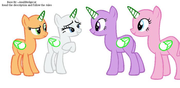 Pony Group Base by GalaxyAcero