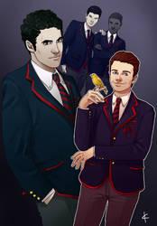 Glee FanArt:Dalton Academy by NinaKask