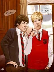 Glee FanArt: Warblercode by NinaKask