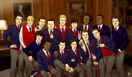 Glee FanArt:The Warblers by NinaKask