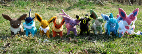 Crochet Eeveelution Set by Kitorahoshi