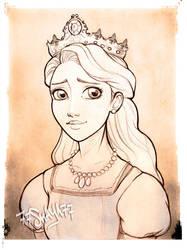 Rapunzel's mother, the Queen +sketch+ by 77Shaya77