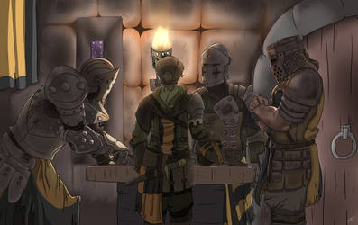 For Honor:  Knights War Room (Commission) by ThisJPguy
