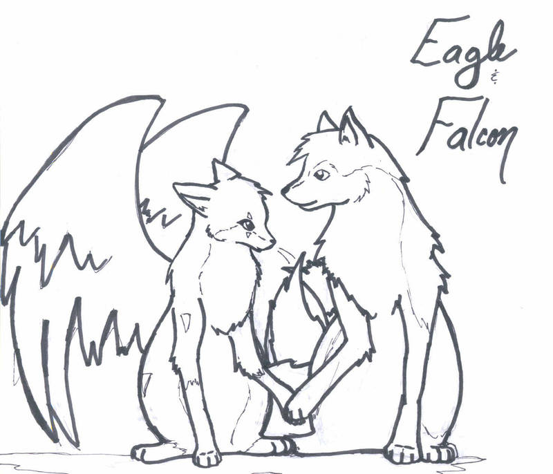 Eagle And Falcon Lineart By Seerterezipyrope On Deviantart