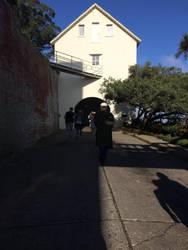 The gate house on Alcatraz by Cameron112367