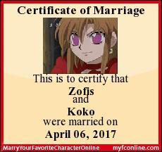 Zofis and Koko are married by my-new-account