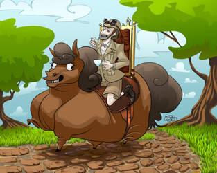 Professor Elemental: This is my Horse! by Bonewick