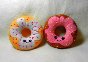 Doughnut Plushies by EmilyHitchcock