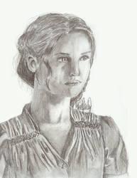 Katniss Everdeen: Girl on Fire by naladraws