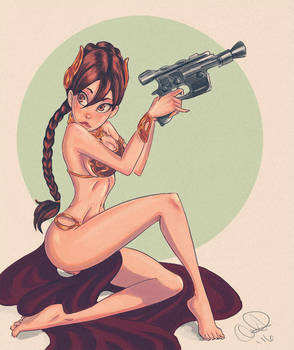 Princess Leia by pandatails