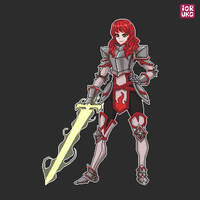 Armored lady commission by Ioruko
