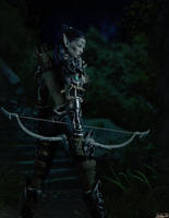 Nightelf huntress by Hubby72