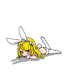 white bunny chan by sesamecake