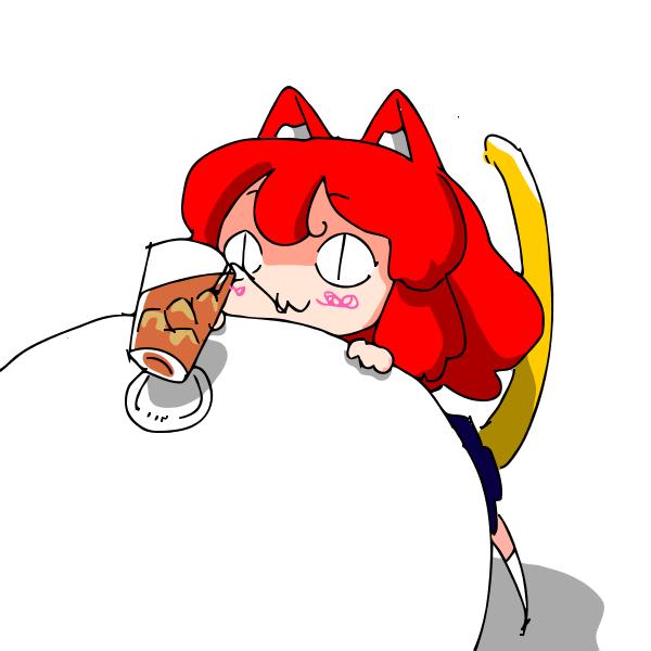 coffee neko by sesamecake