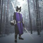 Karelian bear dog warrior by Awsassin